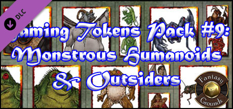 Fantasy Grounds - Gaming #9: Monstrous Humanoids & Outsiders (Token Pack)