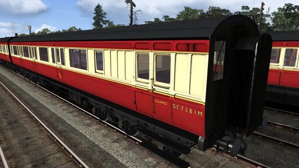 скриншот TS Marketplace: Caledonian Railway 65ft Grampian BR Crimson & Cream Coach Pack Add-On 2