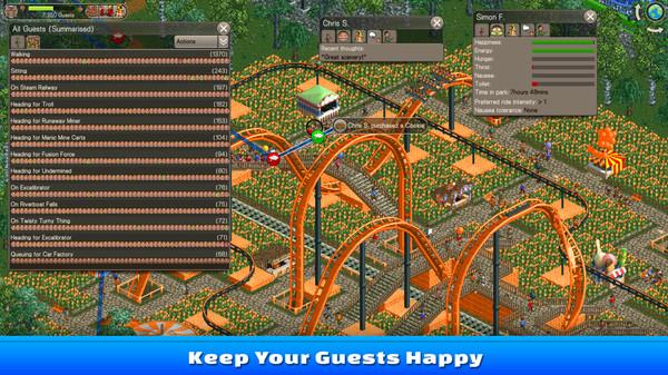Скриншот из RollerCoaster Tycoon Classic