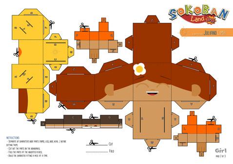Скриншот из Sokoban Land DX - PaperToys