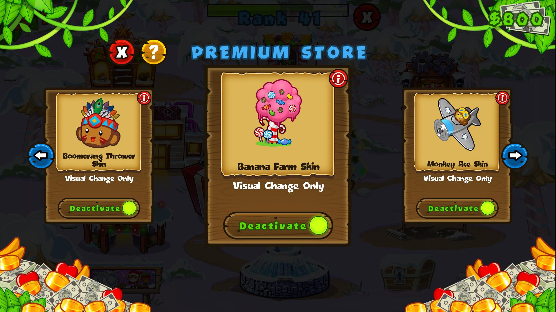 Bloons TD 5 - Candy Banana Farm Skin