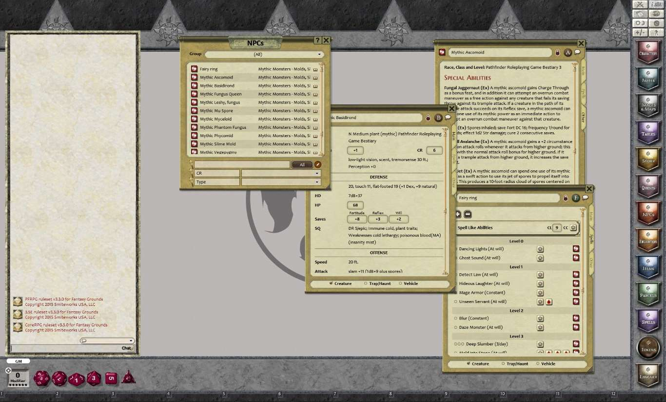 Fantasy Grounds - Mythic Monsters #2: Molds, Slimes, and Fungi (PFRPG)