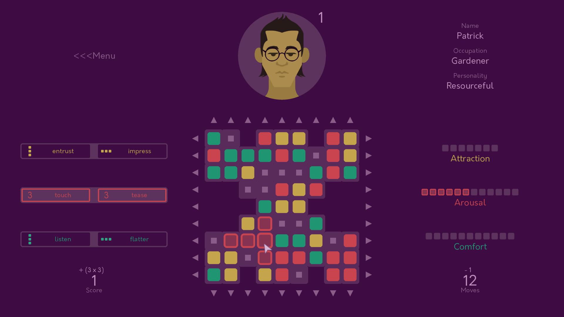 dating crossword clue