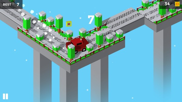 Скриншот из Pixel Traffic: Risky Bridge
