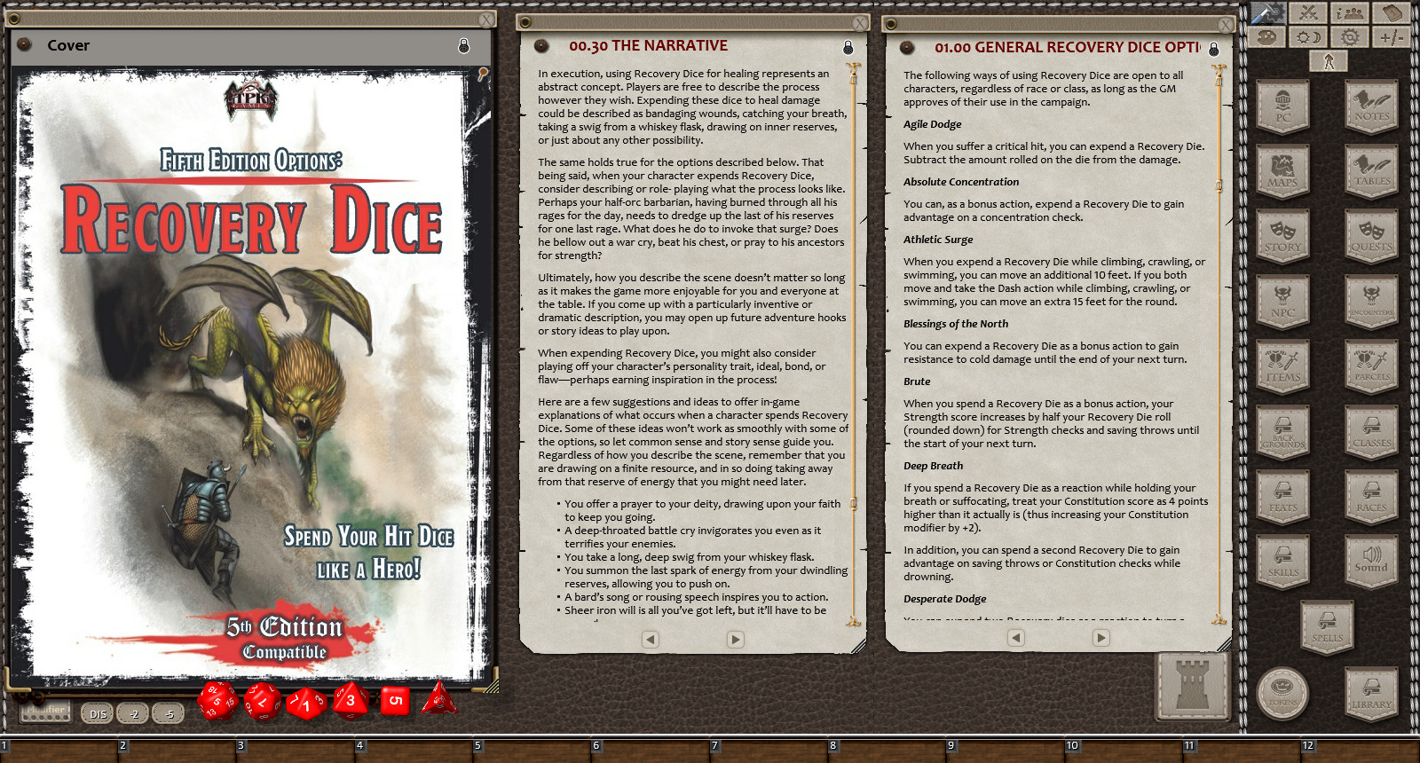 Fantasy Grounds - Fifth Edition Options: Recovery Dice Options (5E)