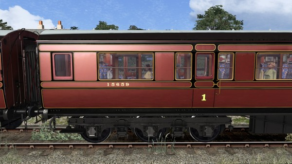 TS Marketplace: Caledonian Railway 65ft Grampian LMS Period 1 Coach Pack