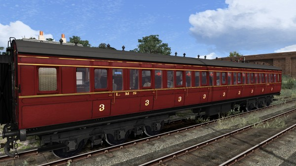 TS Marketplace: Caledonian Railway 65ft Grampian LMS Period 3 Coach Pack