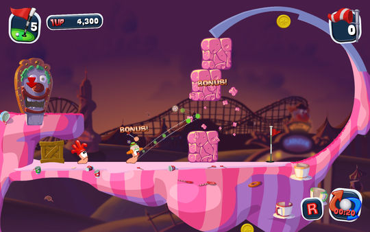 Worms Crazy Golf Screenshot