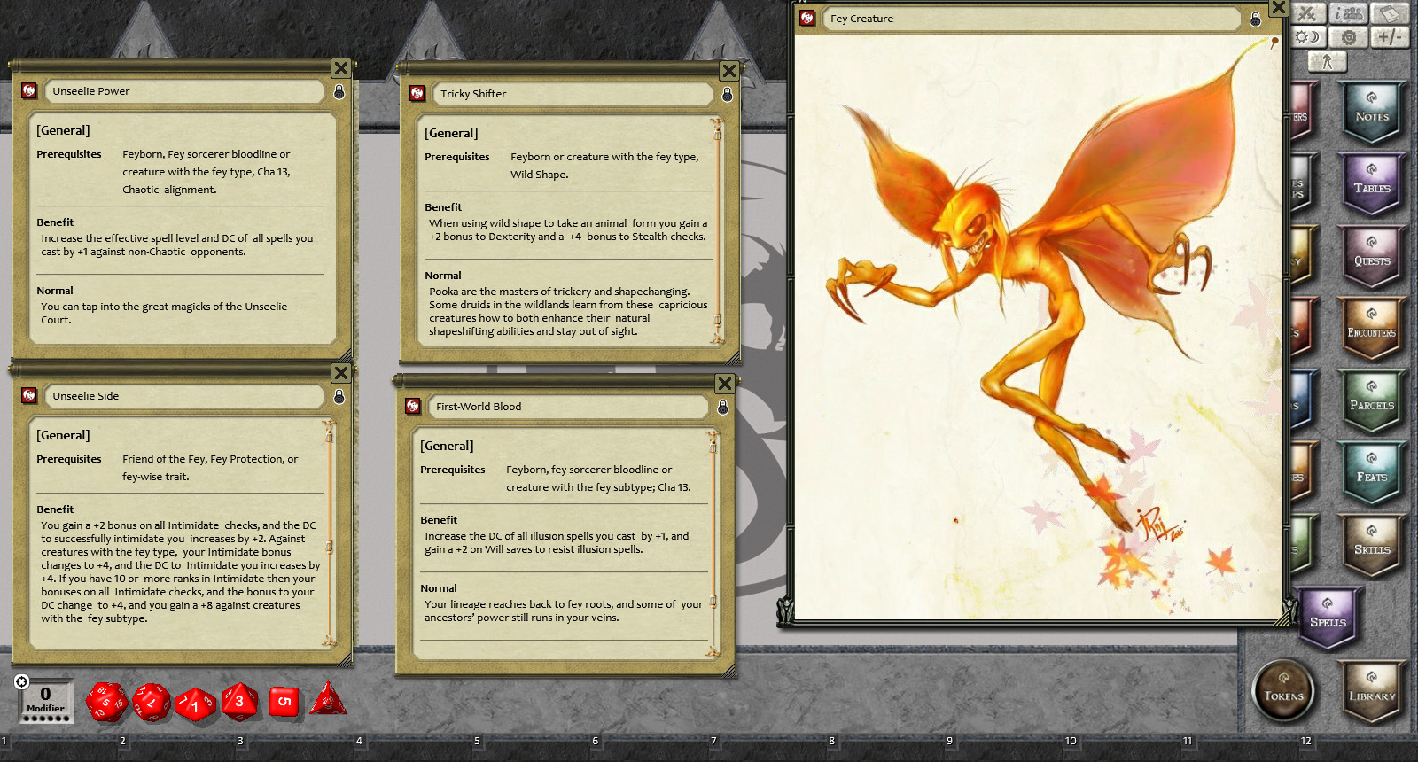 Fantasy Grounds - Feats of Legend: 30 Fey Feats (PFRPG)