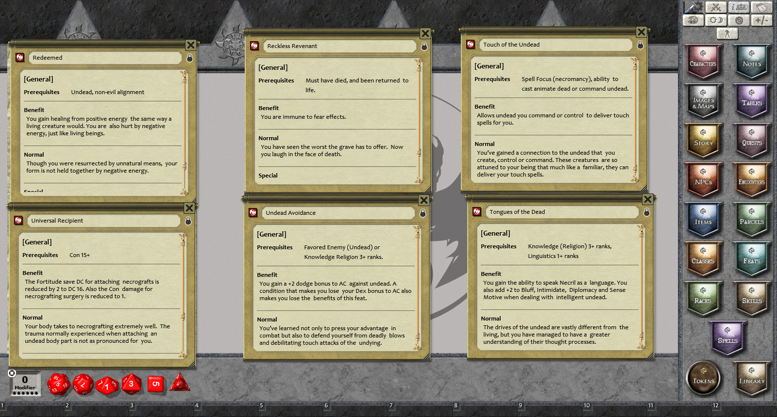 Fantasy Grounds - Feats of Legend: 20 Undead Feats (PFRPG)