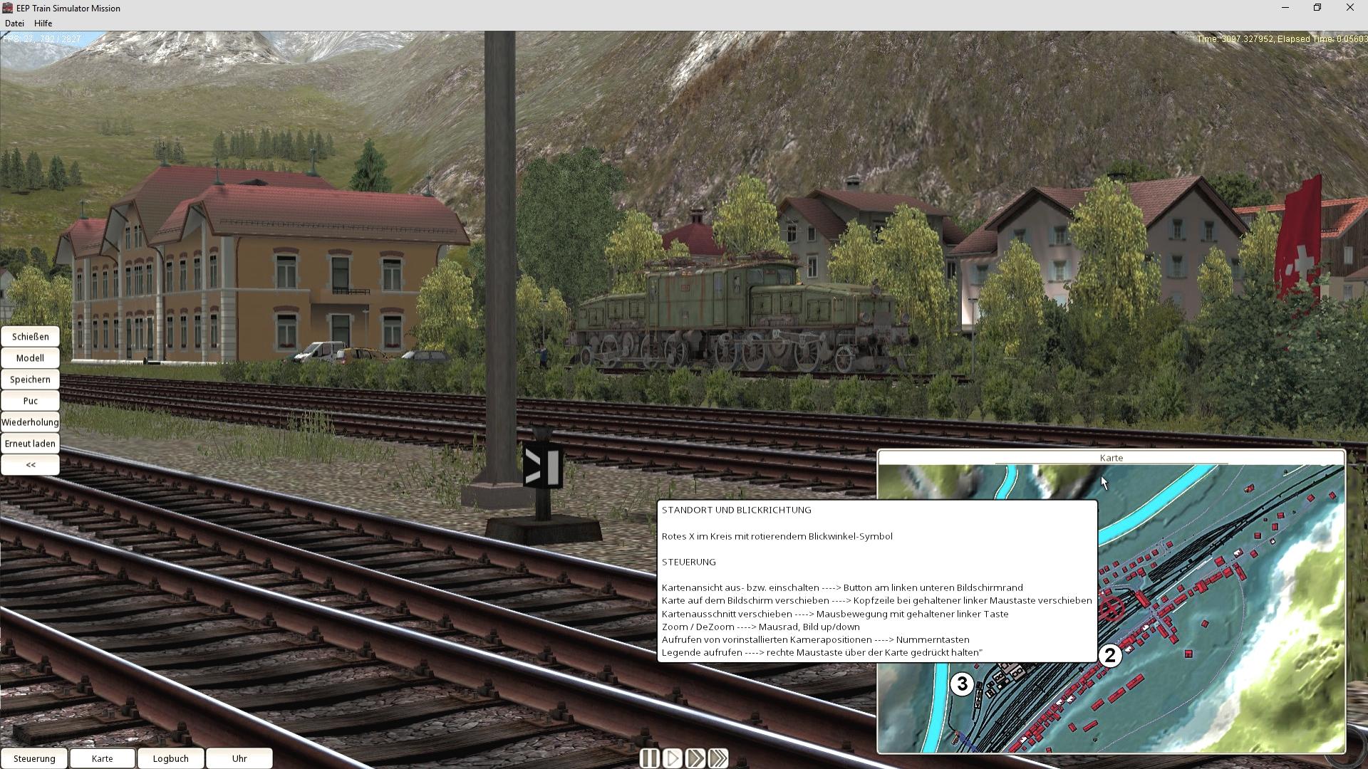 EEP TSM Gotthardbahn Nordrampe Modul Erstfeld