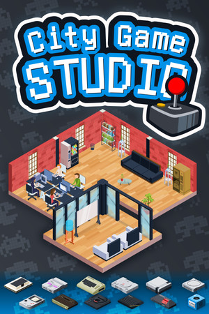 City Game Studio: a tycoon about game dev poster image on Steam Backlog