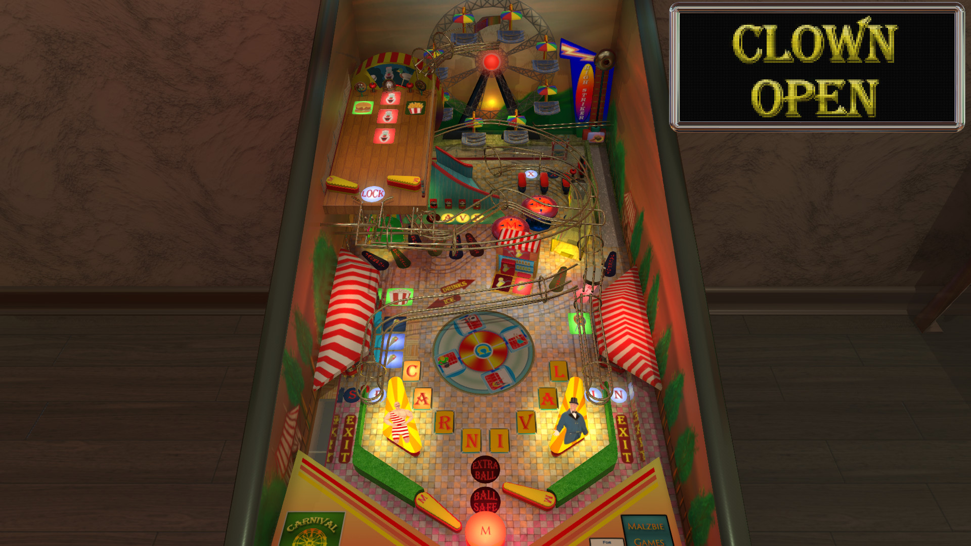steam malzbie s pinball collection carnival table