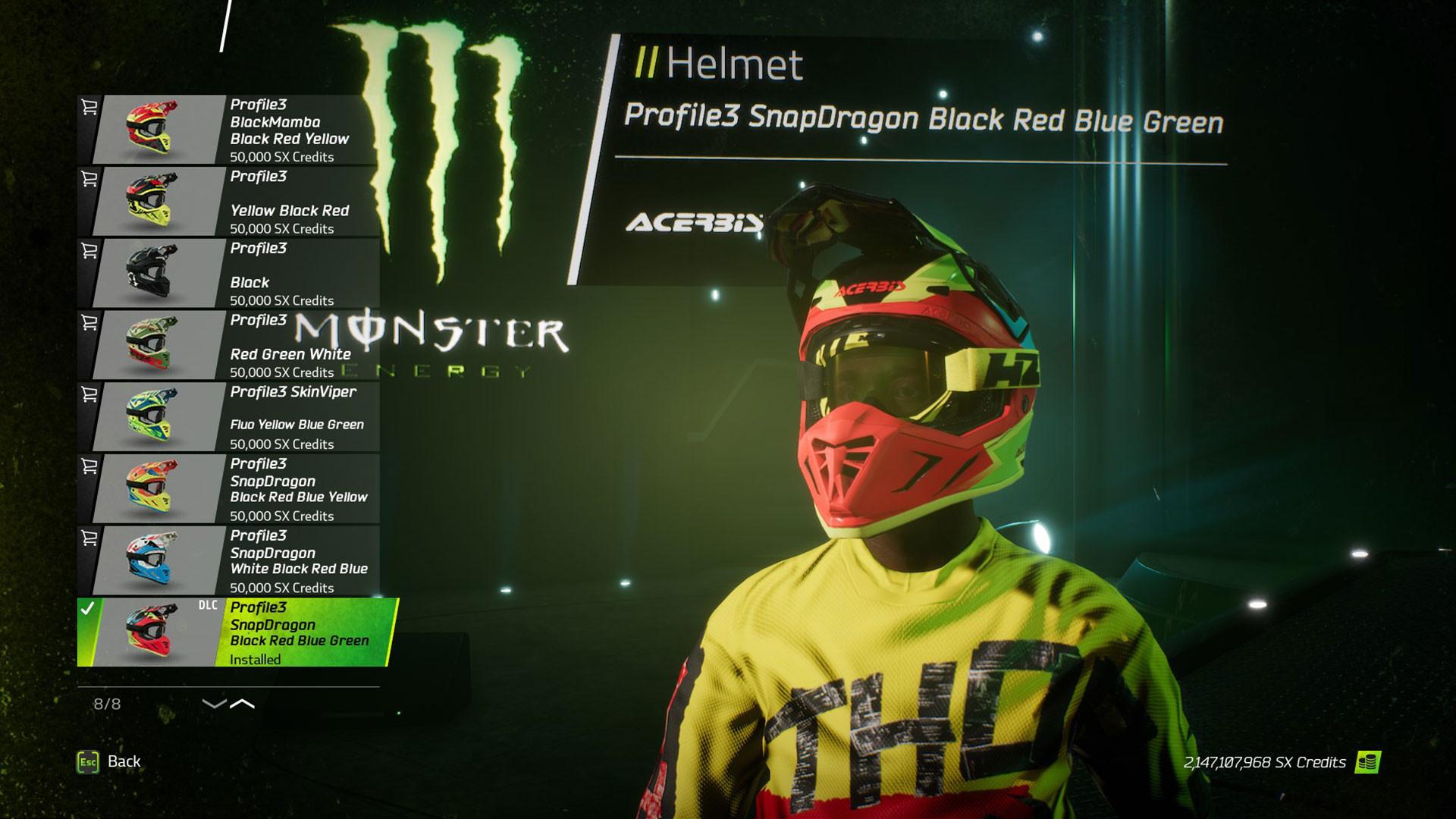 Monster Energy Supercross - Yellowfire Custom Rider Pack on Steam 373a72b13
