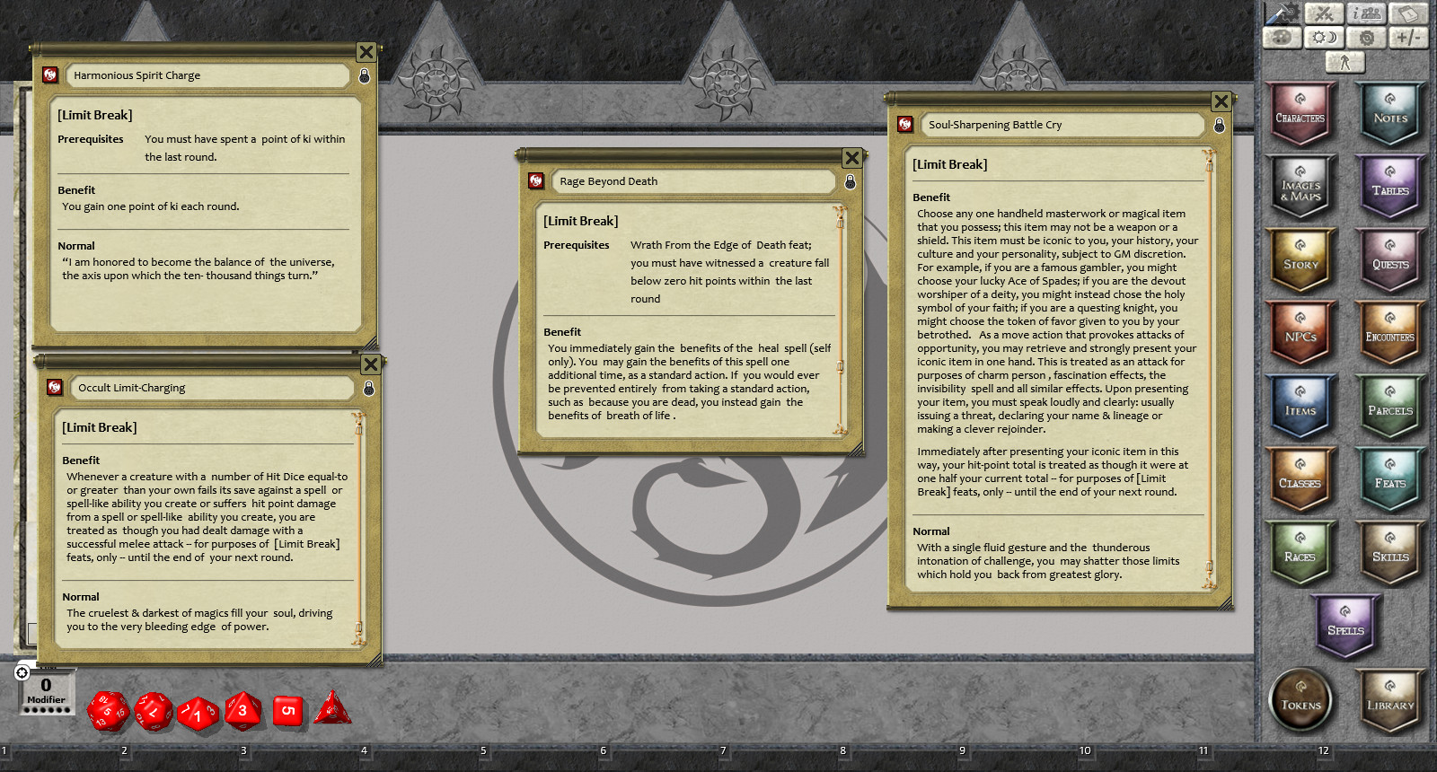 Fantasy Grounds - Feats of Legend - Limit Break: 21 Feats of Martial  Finality! (PFRPG)
