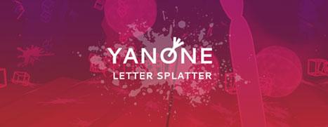 Yanone: Letter Splatter