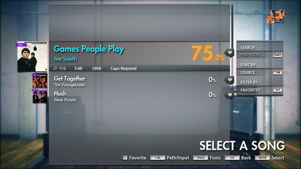 "Скриншот №1 к Rocksmith® 2014 Edition – Remastered – Joe South - ""Games People Play"""
