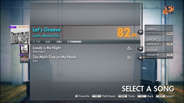 "Скриншот №3 к Rocksmith® 2014 Edition – Remastered – Earth, Wind & Fire - ""Let's Groove"""