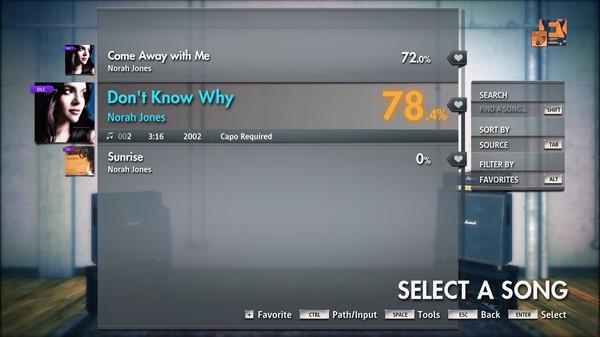 "Скриншот №3 к Rocksmith® 2014 Edition – Remastered – Norah Jones - ""Don't Know Why"""