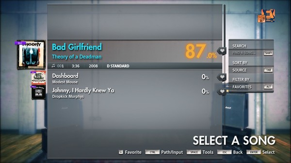 "Скриншот №1 к Rocksmith® 2014 Edition – Remastered – Theory of a Deadman - ""Bad Girlfriend"""