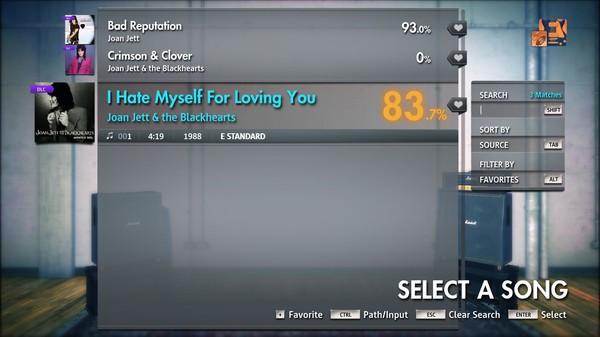 "Скриншот №2 к Rocksmith® 2014 Edition – Remastered – Joan Jett  the Blackhearts - ""I Hate Myself For Loving You"""