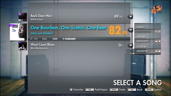 "Скриншот №2 к Rocksmith® 2014 Edition – Remastered – John Lee Hooker - ""One Bourbon One Scotch One Beer"""