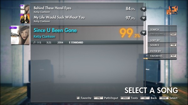 "Скриншот №1 к Rocksmith® 2014 Edition – Remastered – Kelly Clarkson - ""Since U Been Gone"""