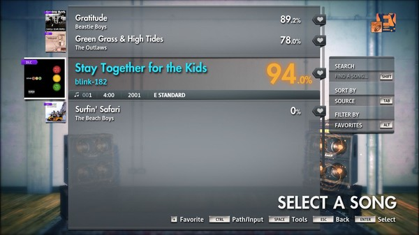 "Скриншот №1 к Rocksmith® 2014 Edition – Remastered – blink-182 - ""Stay Together for the Kids"""