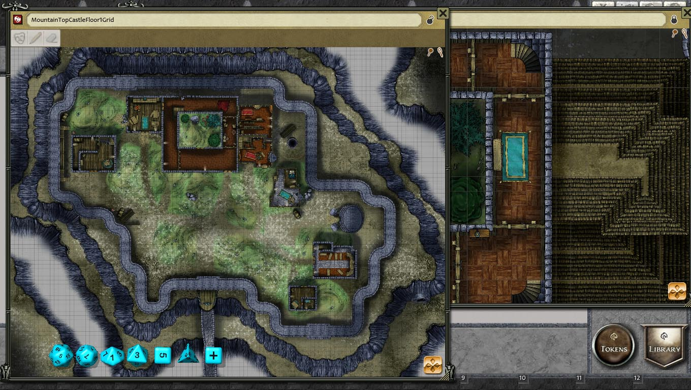 Fantasy Grounds - Mountain Top Castle Map Pack by Joshua Watmough (Map Pack)