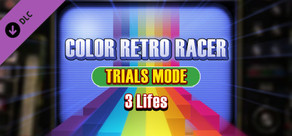 COLOR RETRO RACER : TRIALS MODE *3 Lifes* cover art