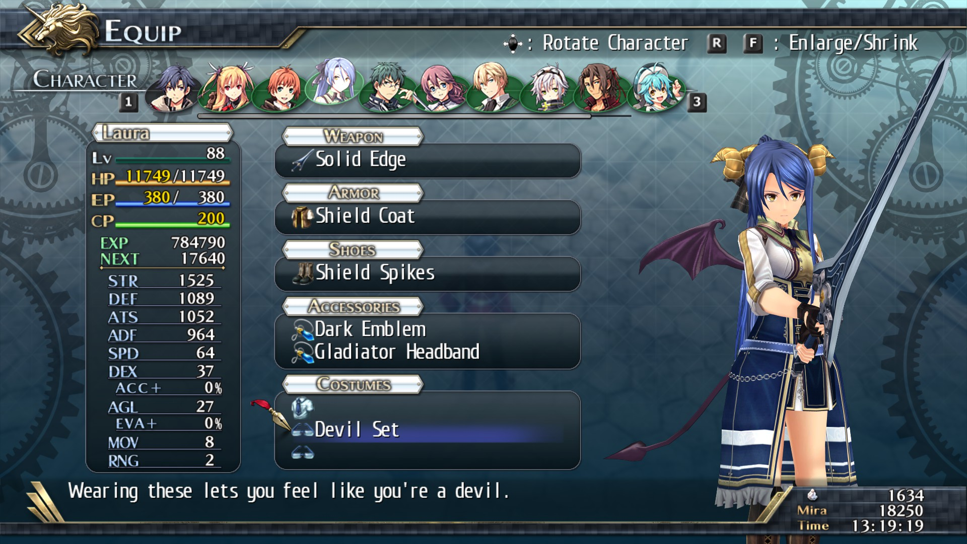 The Legend Of Heroes Trails Of Cold Steel Ii All Accessories On