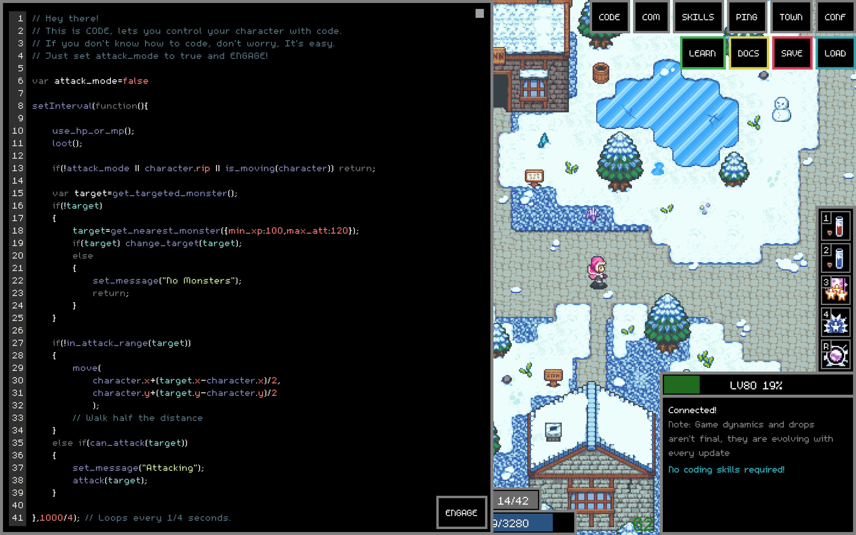 Adventure Land - The Code MMORPG
