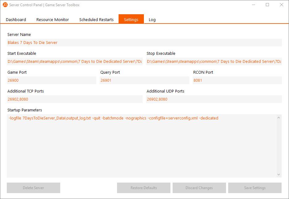 Game Server Toolbox