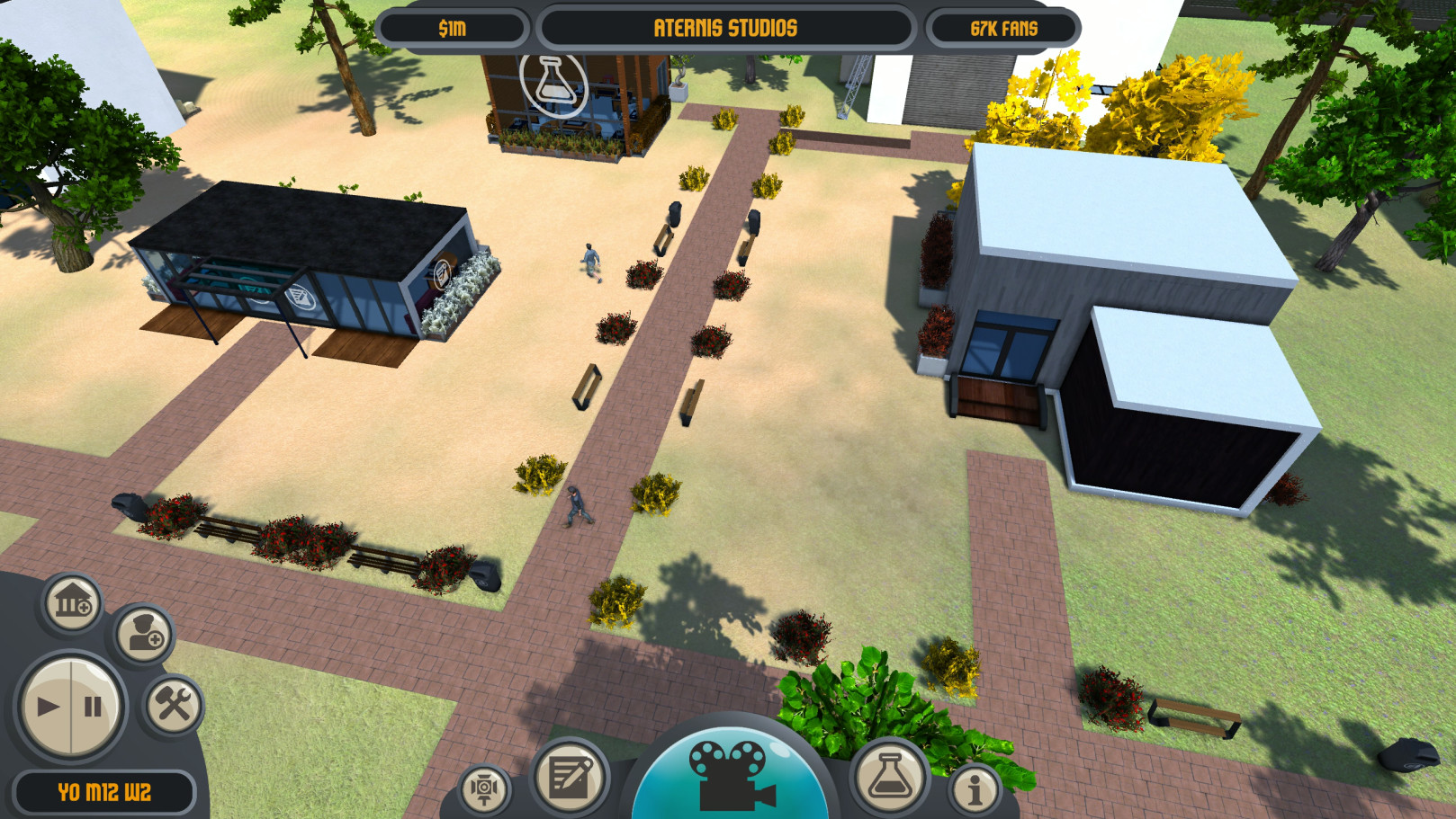 Filmmaker Tycoon is a next generation movie tycoon simulation game! You're the producer of your very own movie studio! Hire actors, build movie sets, make films, move up in the industry, and watch your finished films in Filmmaker Tycoon.