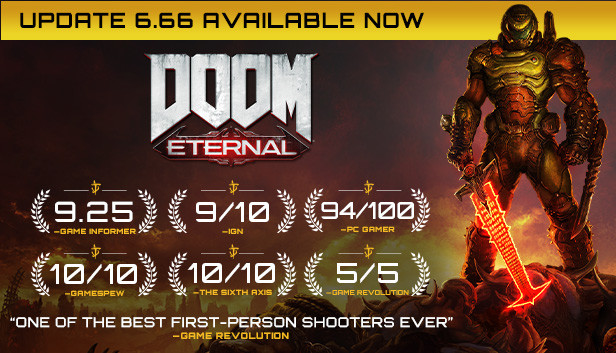 Save 67% on DOOM Eternal on Steam