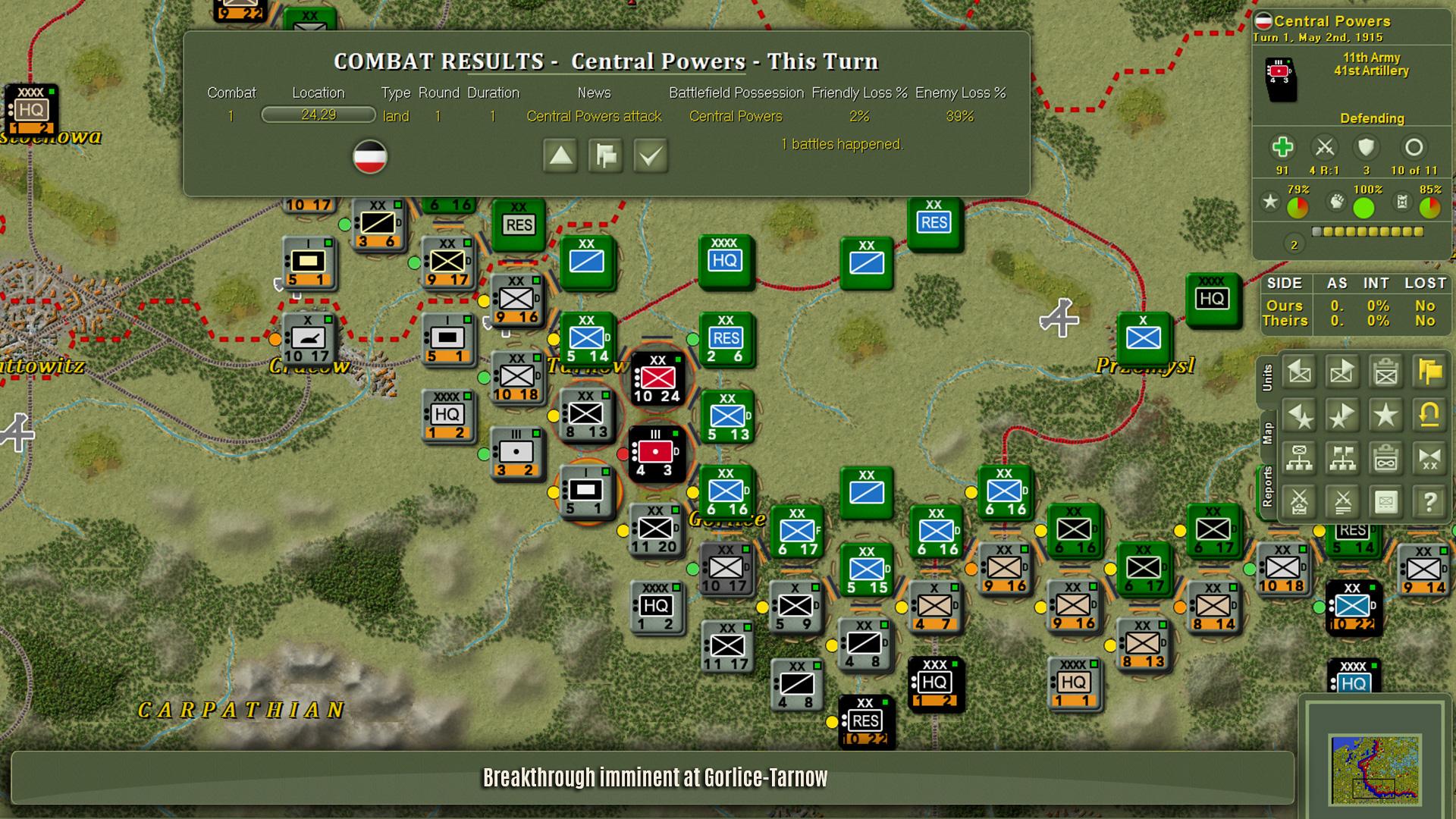 Screenshot of The operational Art of War 4 gameplay