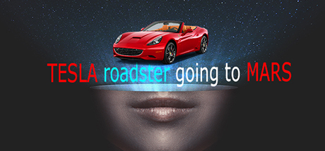 Tesla roadster going to mars cover art