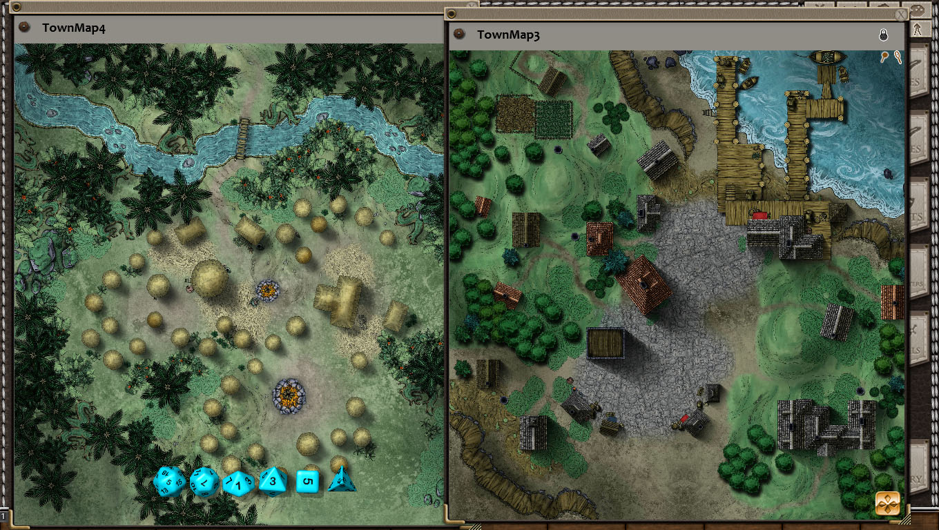 Fantasy Grounds - Town and Village Map Pack by Joshua Watmough (Map Pack)