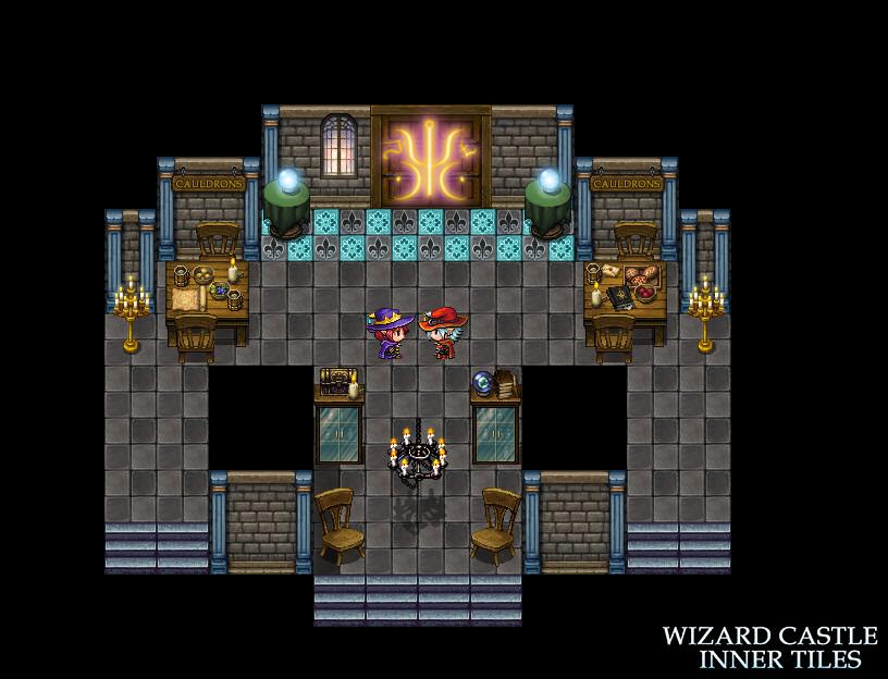 RPG Maker MV - Wizard Castle Inner Tiles
