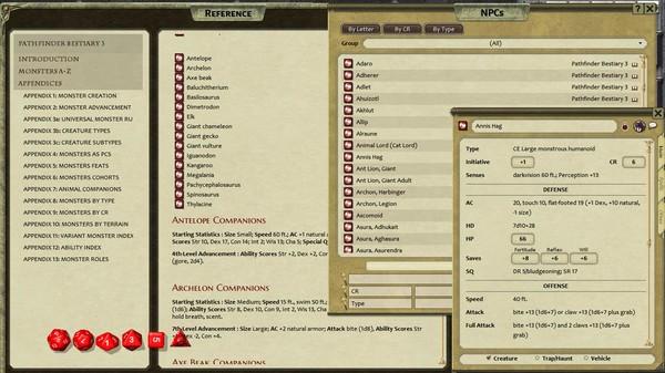 Fantasy Grounds - Pathfinder RPG - Bestiary 3 Pack (PFRPG)