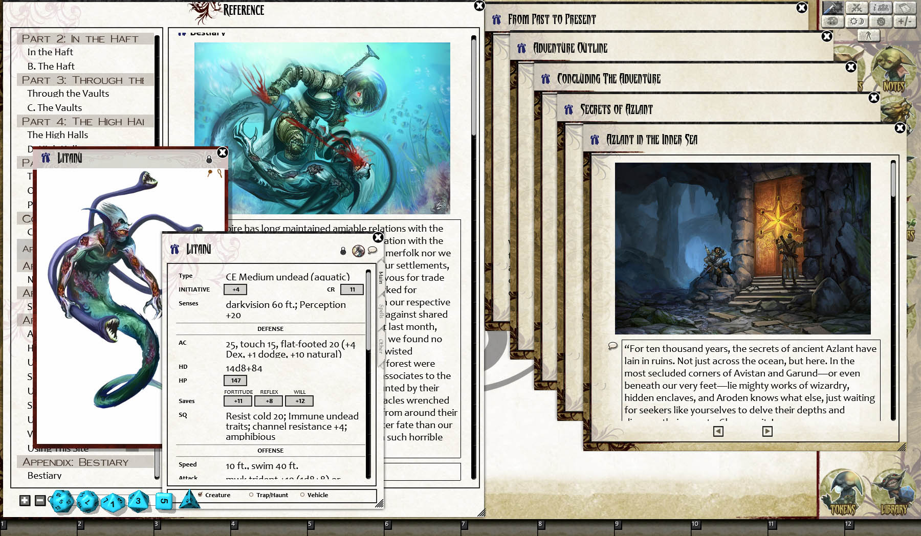 Fantasy Grounds - Pathfinder RPG - Ruins of Azlant AP 5: Tower of the  Drowned Dead (PFRPG)