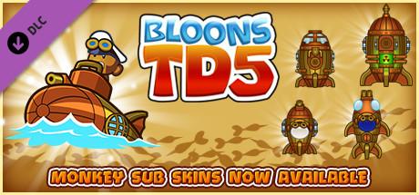 Bloons TD 5 - Steampunk Monkey Sub Skin