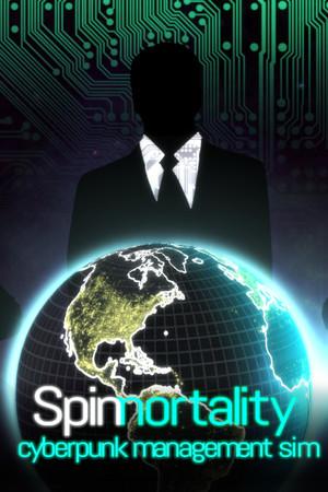 Spinnortality | cyberpunk management sim poster image on Steam Backlog