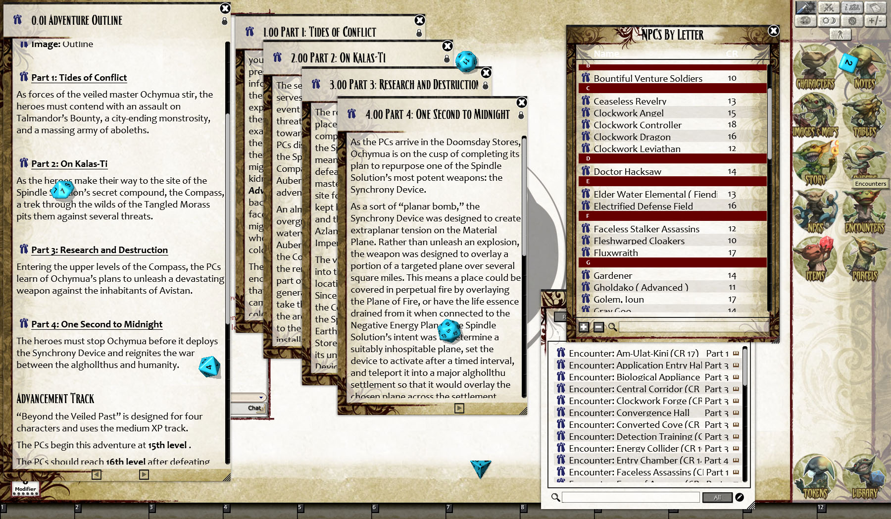 Fantasy Grounds - Pathfinder RPG - Ruins of Azlant AP 6: Beyond the Veiled  Past (PFRPG)