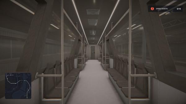 Capture d'écran n°1 du Jeu Subway Simulator: Cyber Train