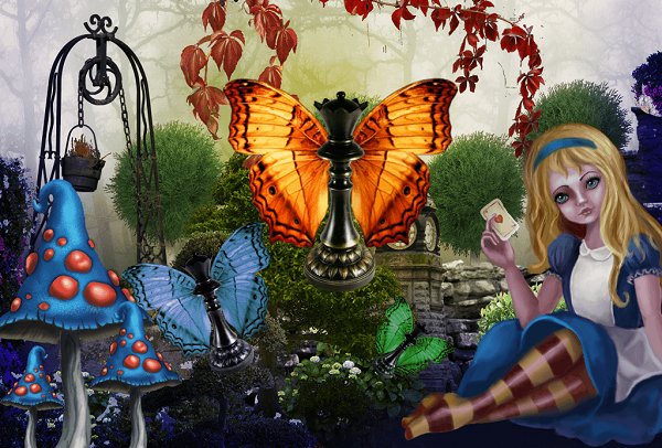 Alice's Adventures. Hidden Object PuzzlePicture_600