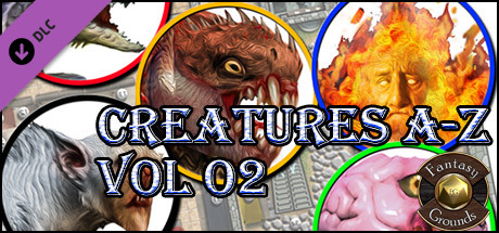 Fantasy Grounds - Creatures A-Z Vol 2 (Token Pack)