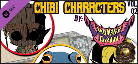 Fantasy Grounds - Chibi Characters Vol 2 (Token Pack)