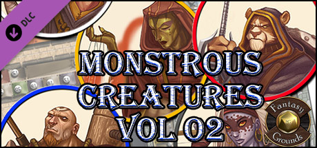Fantasy Grounds - Monstrous Characters Vol 2 (Token Pack)