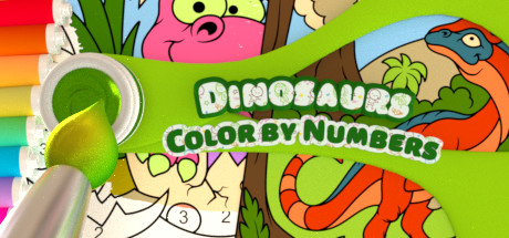 Color by Numbers - Dinosaurs